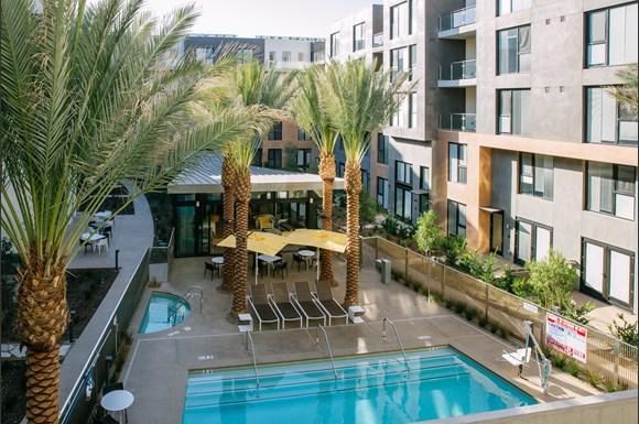 Outdoor Pool Area At Block C San Marcos Ca 92078