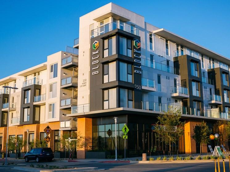Building Facade at Block C, San Marcos, CA,92078