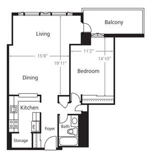 One Bedroom C