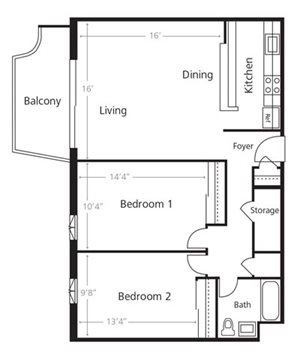 Two Bedroom A1