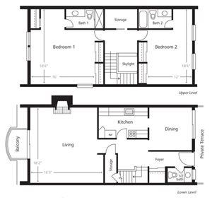 Townhomes - Two Bedroom B