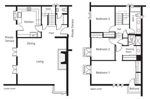 Townhomes - Three Bedroom