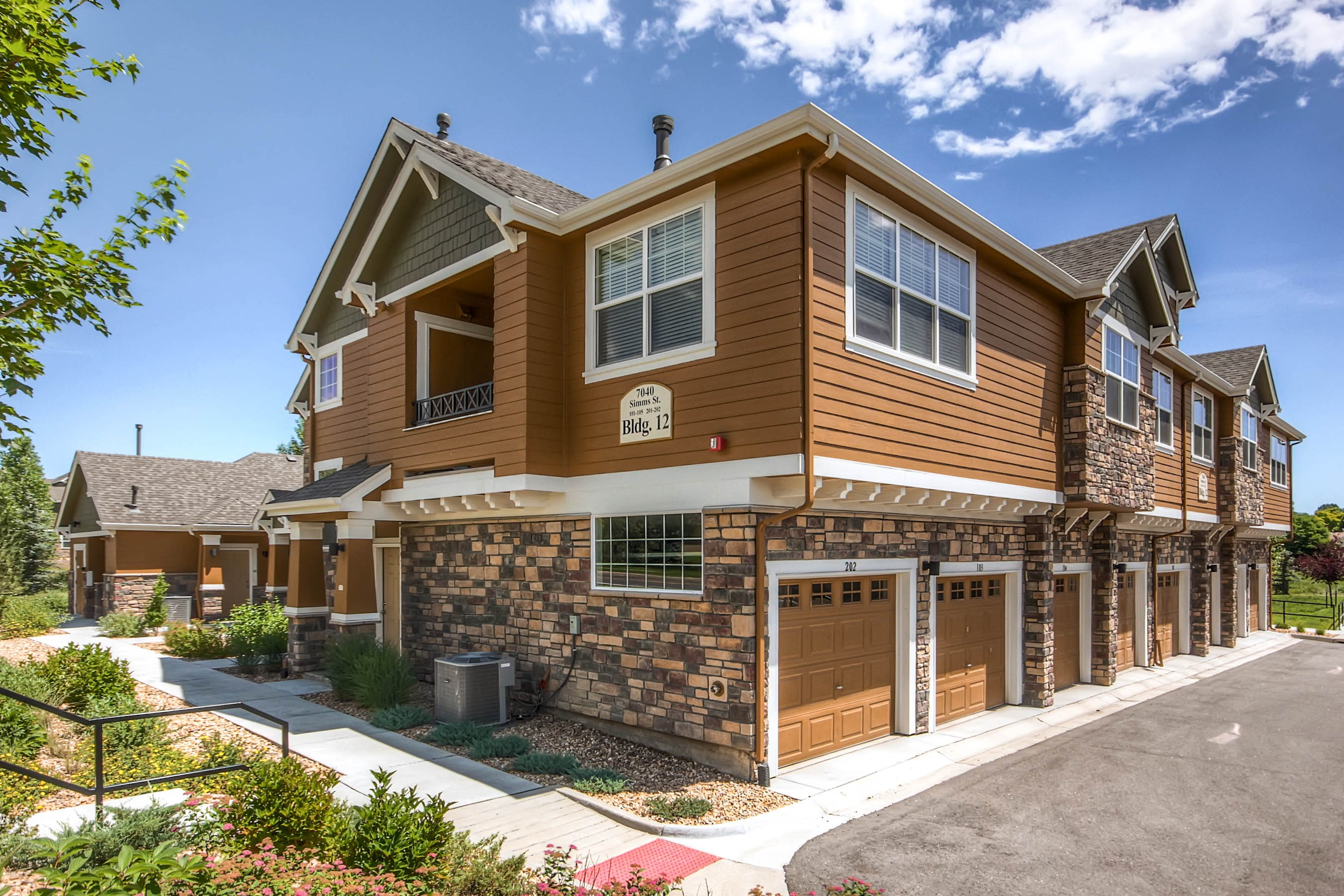 Attached Garages at Maple Leaf Apartments in Arvada, CO