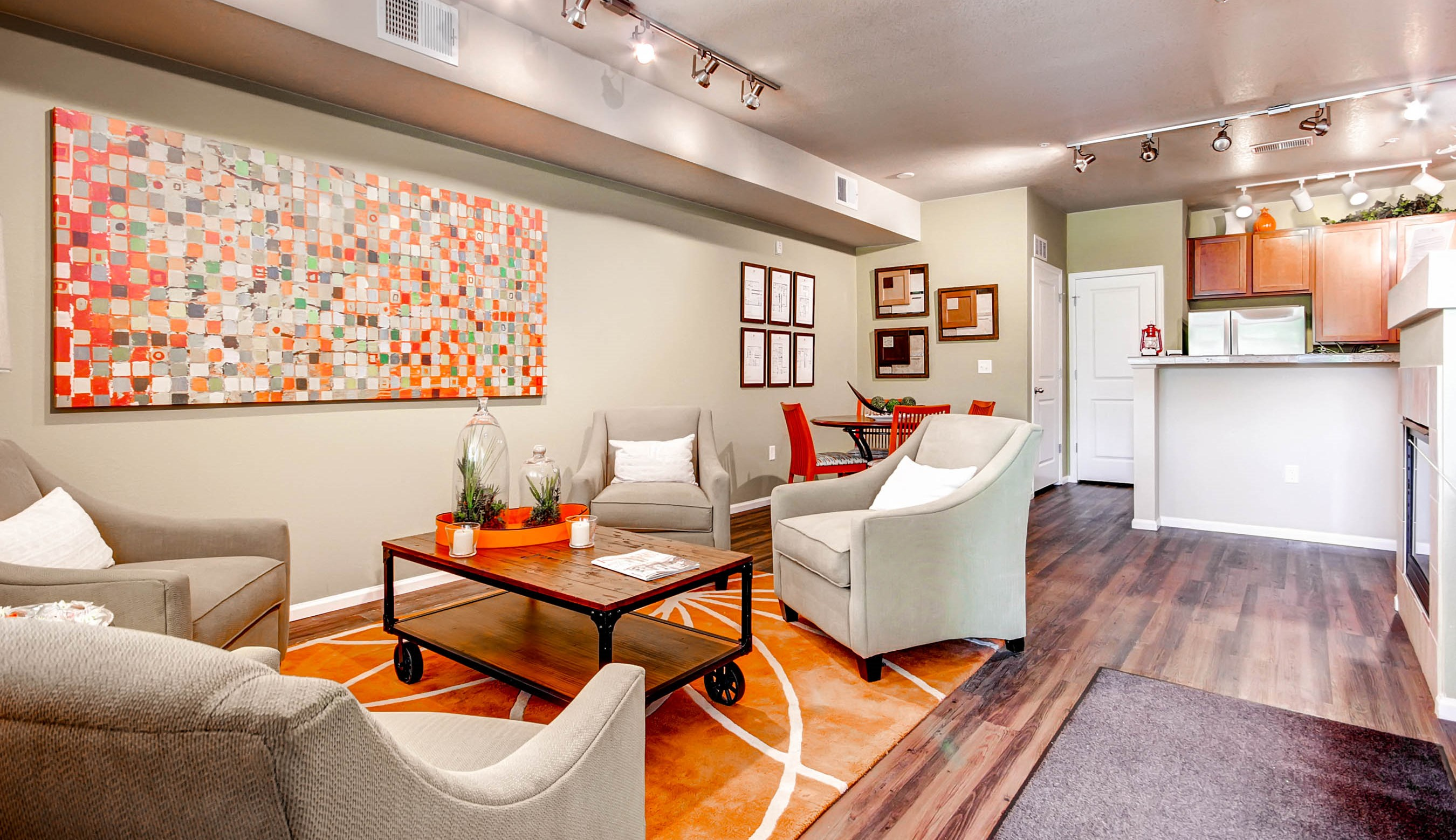Open Living Spaces at Maple Leaf Apartments in Arvada, CO
