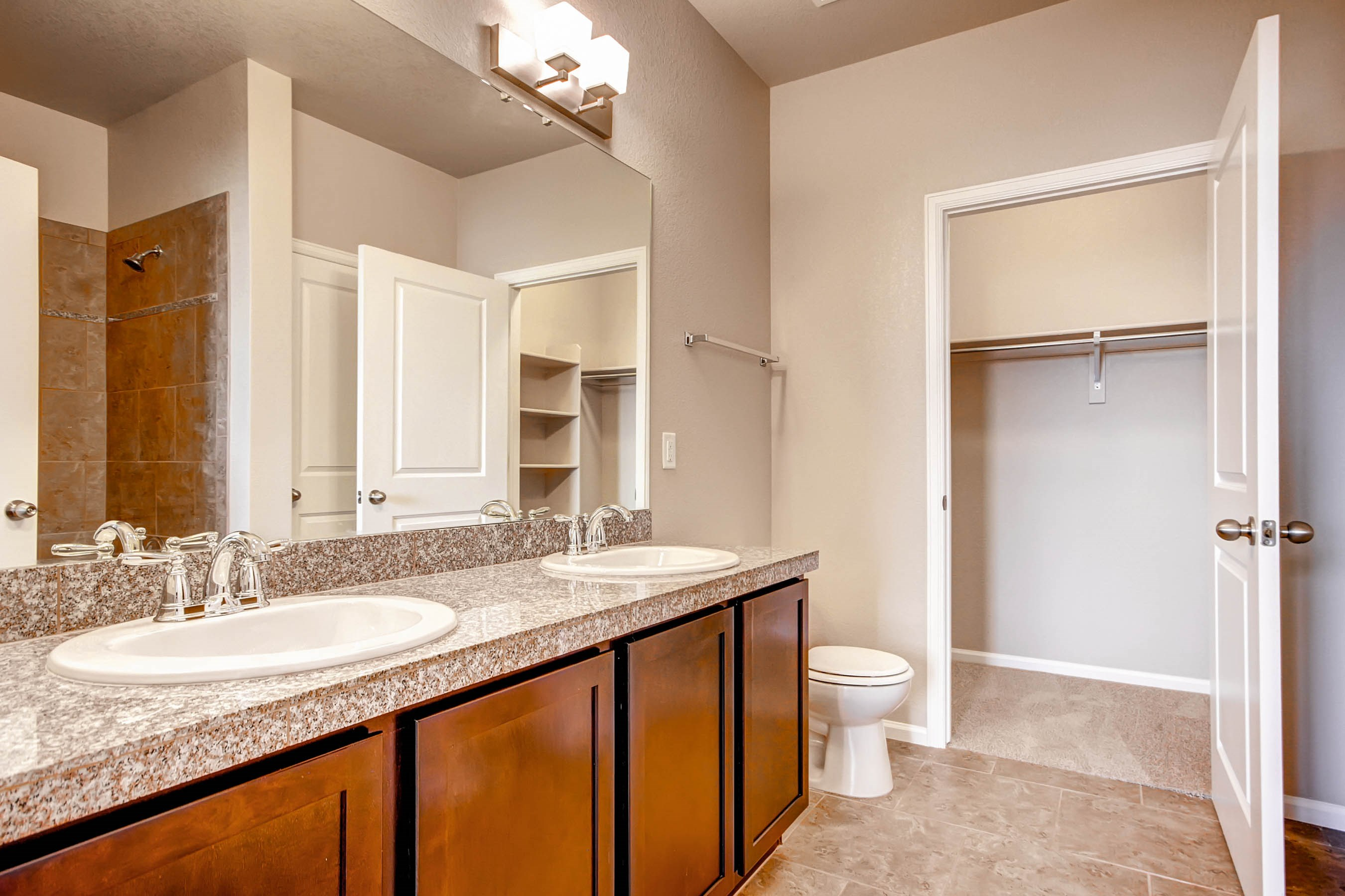 Bathroom at Maple Leaf Apartments in Arvada, CO