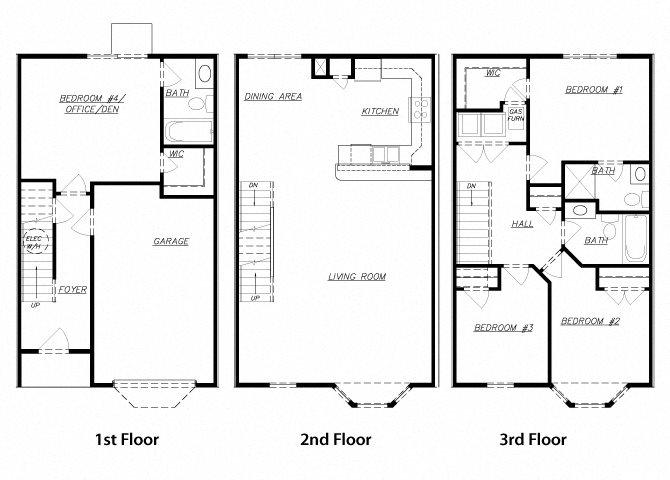 Townhouse Floor Plan Diagram