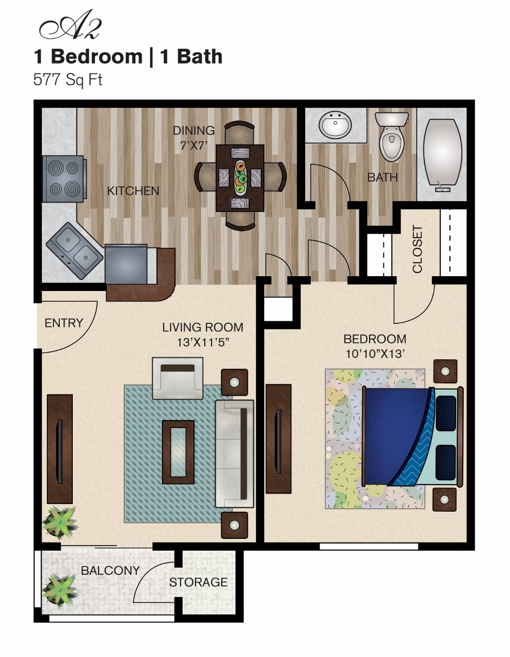 A2: The Oasis Floor Plan 2