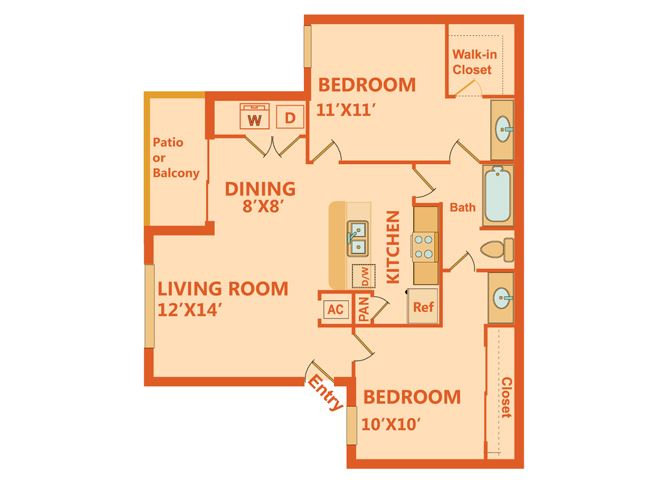 Orchard - 2 Bedrooms
