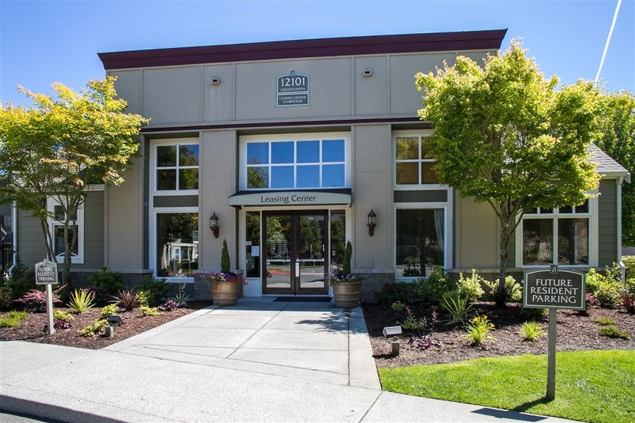 Building Entrance at Bella Terra Apartments, Mukilteo, WA,98275