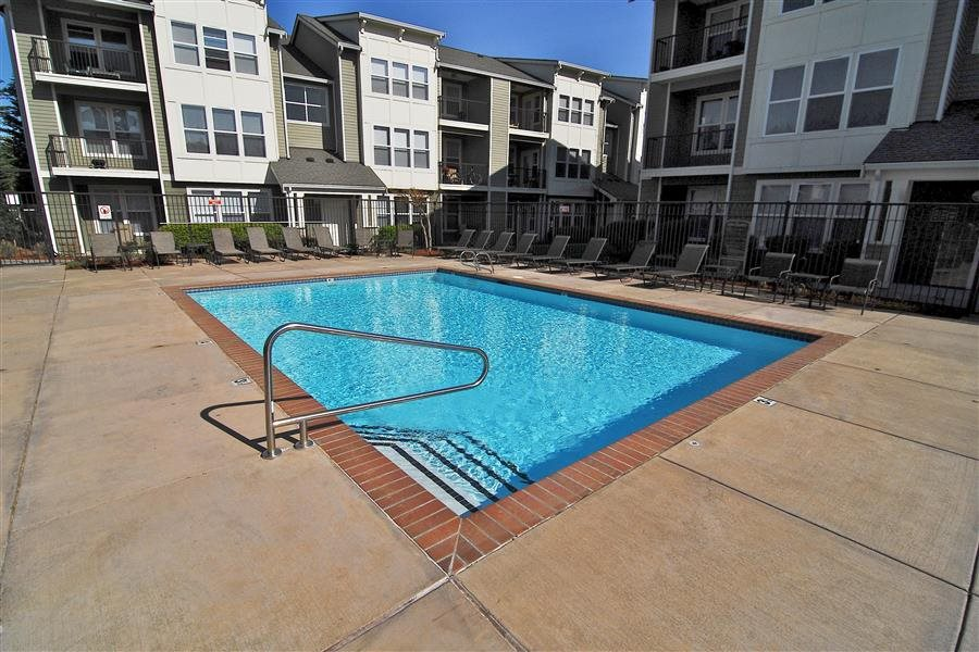 Heated Outdoor Swimming Pool at Bella Terra Apartments, Mukilteo, WA,98275
