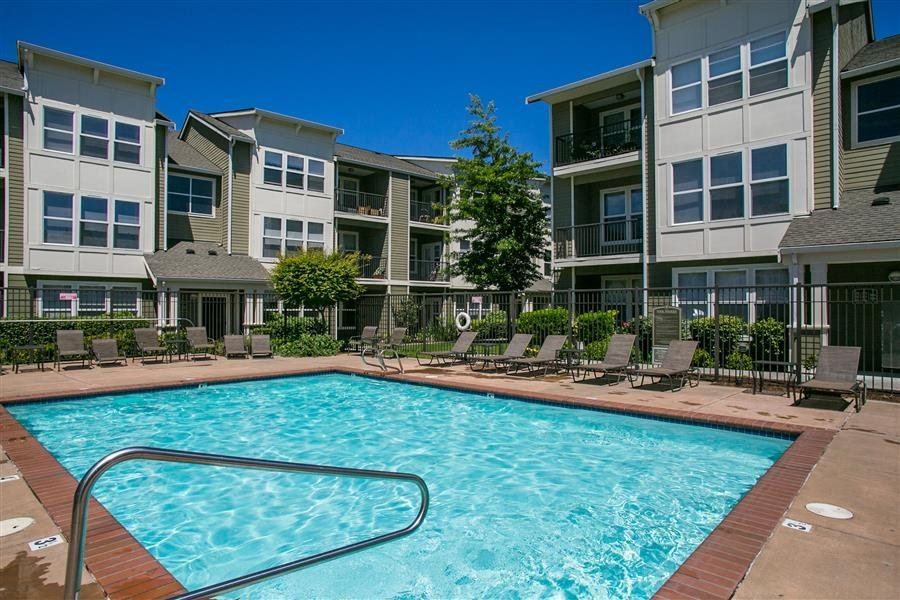 Sparkling Pool at Bella Terra Apartments, Mukilteo, WA,98275