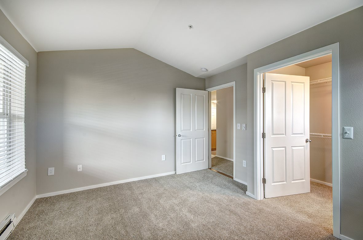 Living Room With Oversized Windows And Doors at Bella Terra Apartments, Washington, 98275