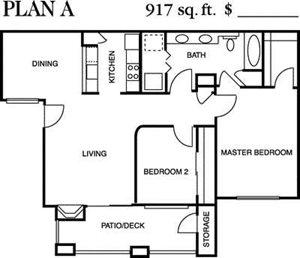 Plan A Floorplan at Deerwood