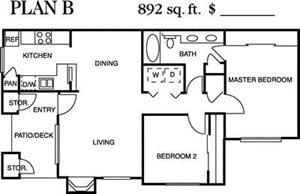 Plan B Floorplan at Deerwood