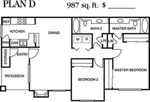 Plan D Floorplan at Deerwood