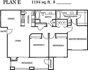 Plan E Floorplan at Deerwood