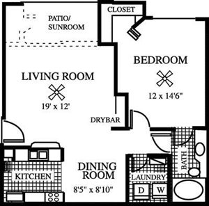 Bougainvillea Floorplan at Gatehouse at Pinelake