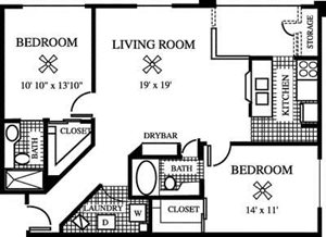 Evergreen Floorplan at Gatehouse at Pinelake