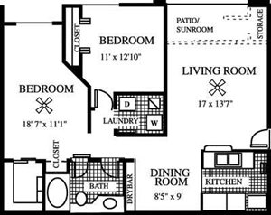 The Coco Plum Floorplan at Gatehouse at Pinelake