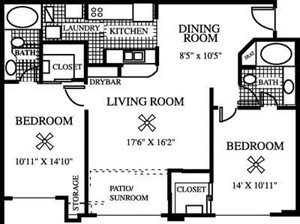 The Dahlia Floorplan at Gatehouse at Pinelake