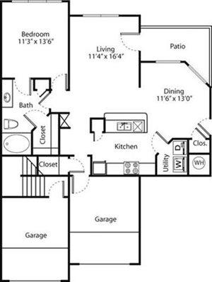 Dogwood Floorplan at Greenwood Plaza Apartments