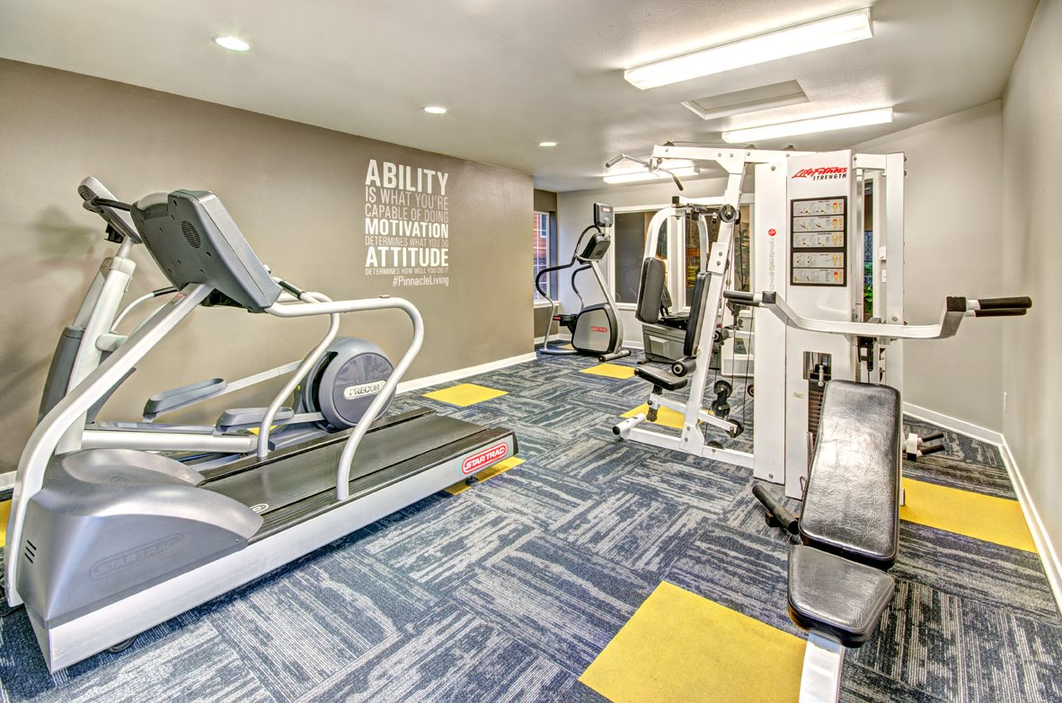 Modern Fitness Center at Heronfield Apartments