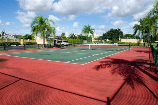 Synthetic Tennis Courts at The Landings at Pembroke Lakes Apartments, Pembroke Pines, FL