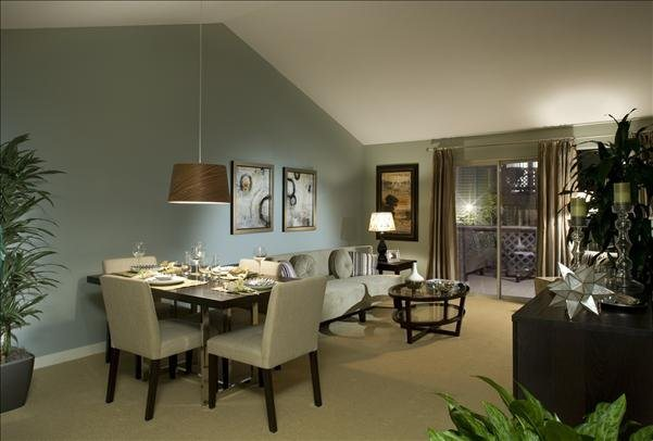 open floor plans with separate dining area at The Martine Apartments, Bellevue, 98005