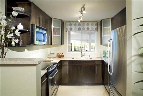 Condo Style Remodeled Kitchen at The Martine Apartments, Bellevue, WA,98005