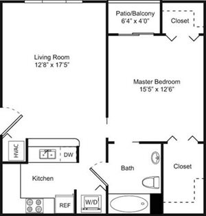 1B Floorplan at Palm Trace Landings