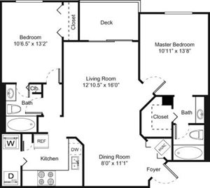 2A Floorplan at Palm Trace Landings