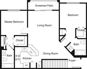 2C Floorplan at Palm Trace Landings