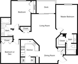 3A Floorplan at Palm Trace Landings