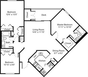 3B Floorplan at Palm Trace Landings