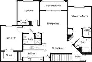 3F Floorplan at Palm Trace Landings