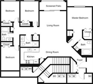 4B Floorplan at Palm Trace Landings