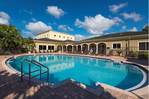 Sparkling Swimming Pool at Oasis Delray Apartments, 5600 W. Atlantic Ave., Delray Beach, 33484
