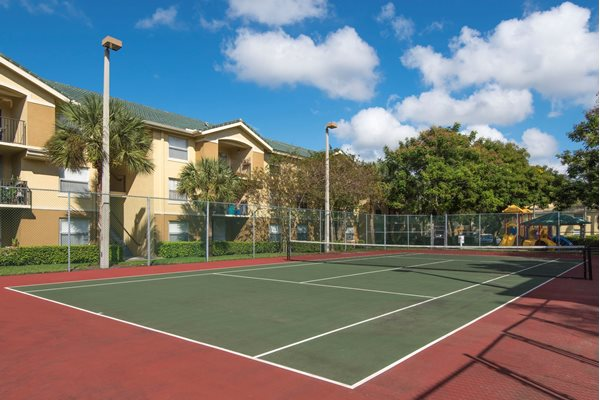 Lighted Tennis Court at Palm Trace Landings Apartments, Davie, FL 33314