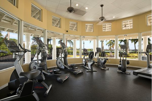 Fully Equipped Fitness Center at Oasis Delray Apartments, FL 33484