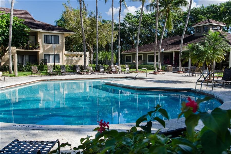 Two Swimming Pools at The Reserve at Ashley Lake apartments in Boynton Beach FL