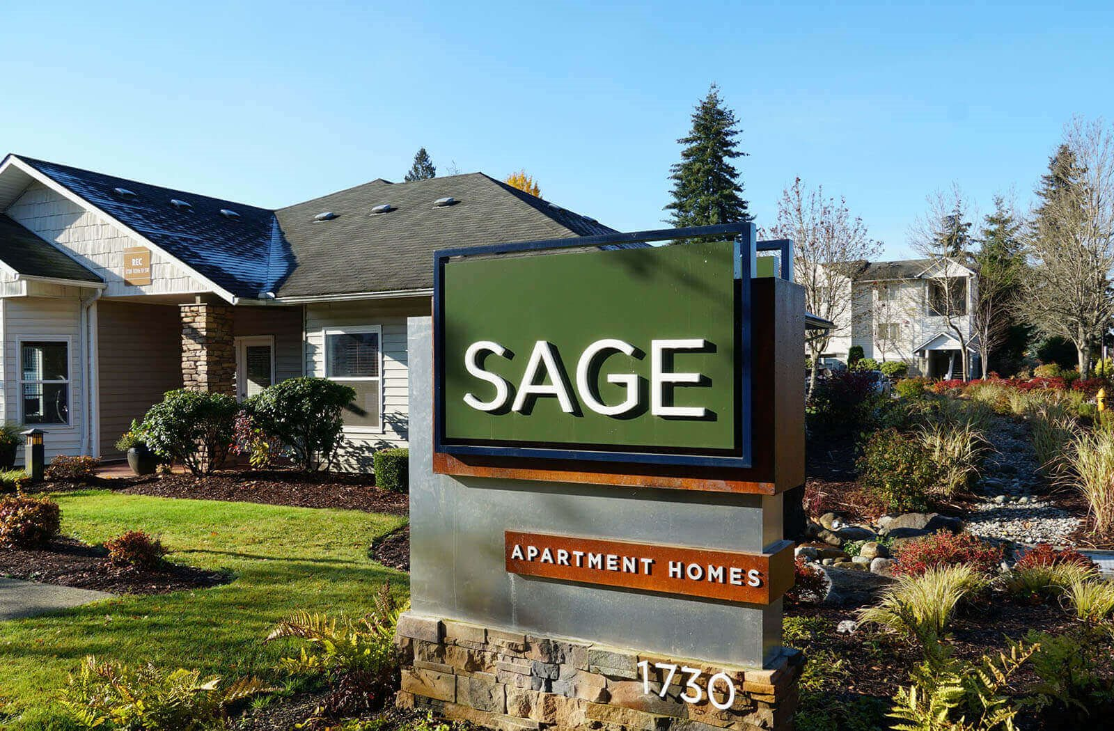 Main Entrance at Sage Apartments