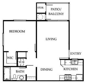 1A Floorplan at The Ashton