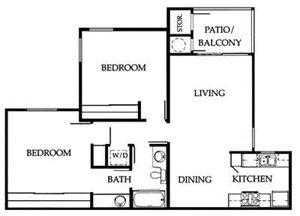 2A Floorplan at The Ashton