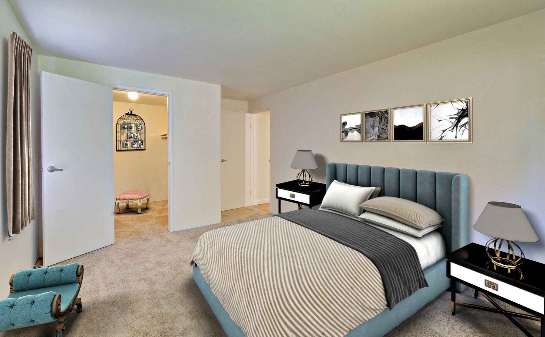 Walk-In Closets in our Two Bedroom Homes