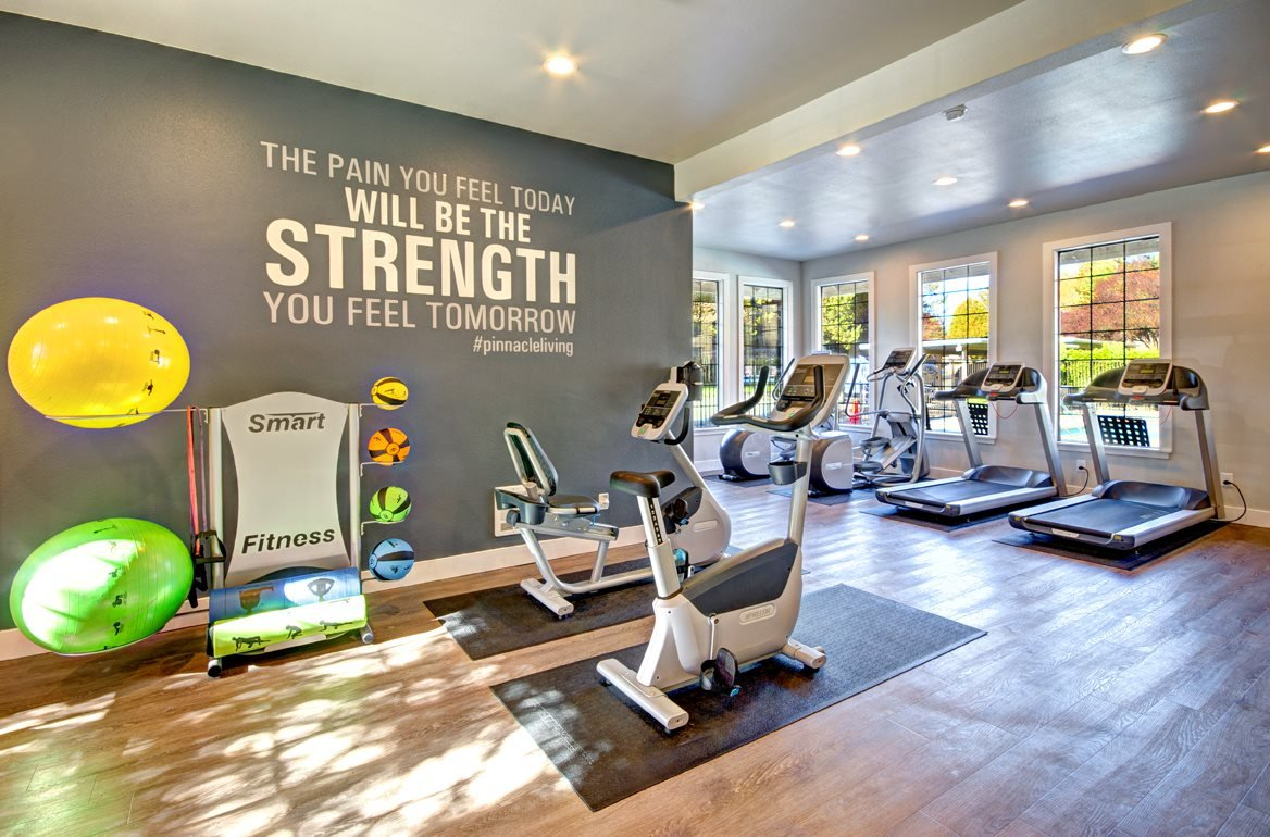 State-of-the-art Fitness Center at Woodlake Apartments, Kirkland, Washington