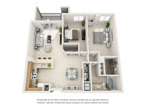 Floorplan at Gables Grand Plaza Apartments, Coral Gables, FL