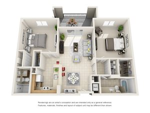 Floorplan at Gables Grand Plaza Apartments, Coral Gables, 33134