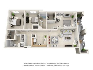 Floorplan at Gables Grand Plaza Apartments, FL, 33134