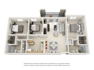 Floorplan at Gables Grand Plaza Apartments, 353 Aragon Avenue, FL, 33134