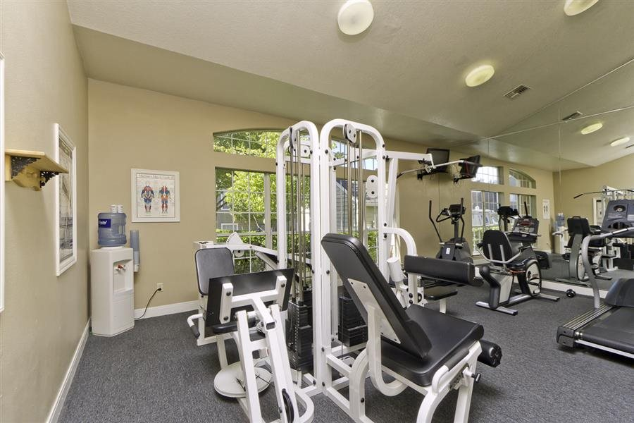 Fully equipped Fitness Center at Huntington Park Apartments, Everett, WA,98208